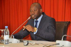 Mai Ahmad Fatty, conseiller spécial du Président  élu de la Gambie, Adama Barrow, hier à Dakar.
